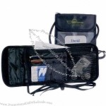 Travel String Wallet with Clear Window