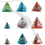 Triangle Acrylic Liquid PaperWeight