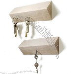 Triangle Wooden Magnetic Pull Key Holder