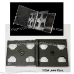 Triple slim CD jewel case with black middle tray.