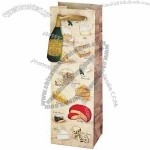 """True Fabrications """"Say Cheese!"""" Illustrated Wine Bag"""