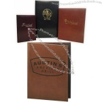 Tuxedo Leather Menu Covers