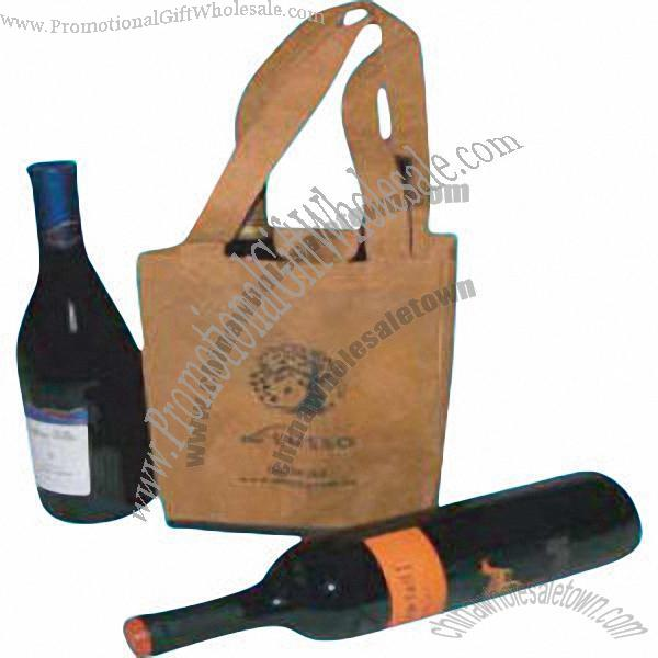 Two bottle wine carrier non woven material china for Wine bottle material