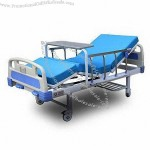 Two Crank Manual Hospital Bed, Aluminum Alloy Side Rail