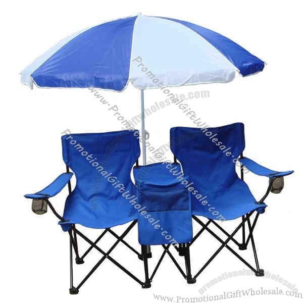 Two Person Chair Set With Umbrella And Cooler China