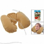 U Shaped Inflatable Travel Pillow Neck Rest Support Cushion