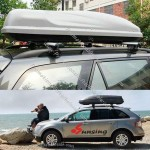 Universal 450L Silver Grey ABS Car Roof Box