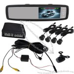 Universal Video Parking Sensor System, 4.3 Inch Rearview Monitor