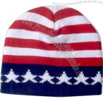 USA flag 100% acrylic knitted cap.