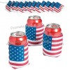 USA Flag Can Cooler Covers