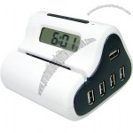 USB 4 Port Hub with Letter Opener Alarm Clock
