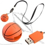 USB Basketball Necklace Flash Drive