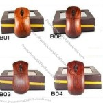 USB Bubinga Wood Wireless Mouse