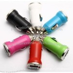 USB car charger for iphone 6 colors available