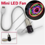 USB LED Mini Fan Showing Tempereture and Messages