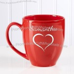 Valentine Cheer Personalized Bistro Mug