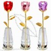 Valentine Crystal Rose with 24k Gold-plated