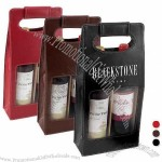 Venezia - Two-bottle wine tote with removable base to fold flat