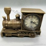 Vintage copper locomotive clock