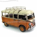 Vintage Metal Bus Model with 100% Handmade