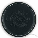 Vintage Round Leather Coaster