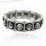 Vintage Tennis Skull Metal Bangles, Made Of Alloy