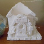 Vintage Wee Crafts Ready to Paint Gypsum Birdhouse Planter