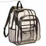 Vinyl Clear Backpack w/ Large Main Compartment