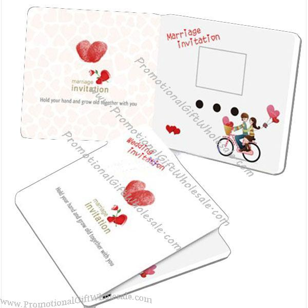 Wholesale voice recorder greeting card with led light for