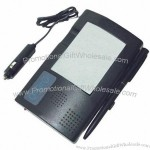 Voice Recorder/Notepad Mounts on windshield with suction cup