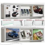 Wall Leaflet Display - Featuring Acrylic Compartments