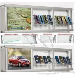 Wall Leaflet Holder With Acrylic Pockets