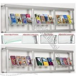 Wall Literature Stands With 3 Acrylic Pockets