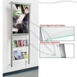 """Wall-mounted Flyer Displays Include 24""""w x 36""""h Graphic Area"""
