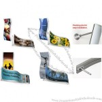 Wall Mounted Graphic Frame - Curved Image Display Frame