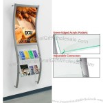 Wall-mounted Literature Holders, Combine Poster Frame w/ Brochure Dispenser