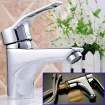 Ware Brass Kitchen Faucet Basin Sink Bathroom Faucet Mixer Water Tap with Hose