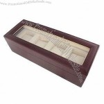 Watch Box, Made of MDF and Red Lacquer Outside