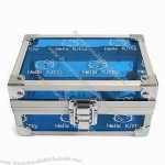 Watch Box with Blue Acrylic Surface 130 x 90 x 66mm