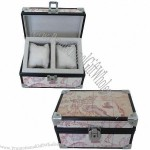 Watch Box With Map Pattern PVC Leather Panel