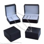 Watch Boxes, Made of Plastic with Leatherette Paper, Fashionable Design
