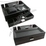 Watch Storage Case with Chrome Hardware, Mahogany Finish