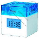 Water Cube USB HUB Four Clock