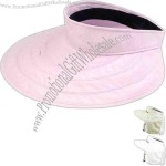 Water repellent visor with UV protection and moisture wicking sweatband
