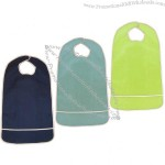 Waterproof Terry Cloth Adult Bib w/ Velcro Closure and Crumb Catcher
