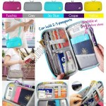 Waterproof Travel Wallet Passport Holder Document Organizer Zip Case with Strap