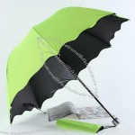 Waterproof Vinyl Fabric 3 Fold Umbrella