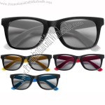 Wayfarer Style Sunglasses with Coloured Arms