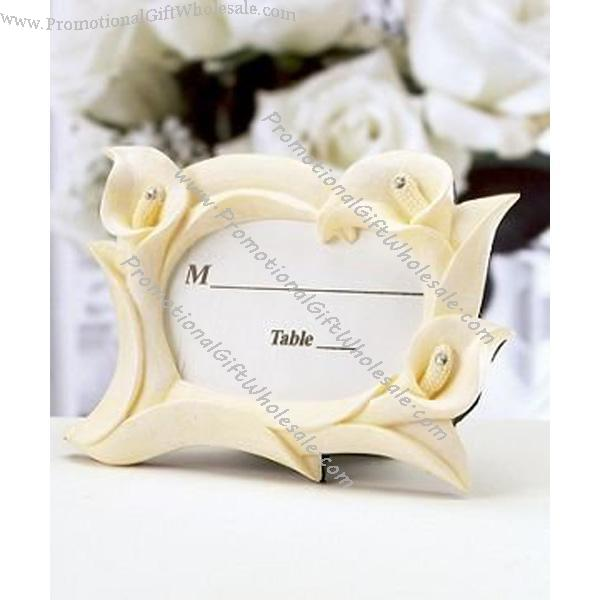 Wedding Favor Lvory Resin Calla Lily Frame Discount 1040215675