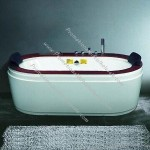Whirlpool Bathtub with Digital Control Panel and Air Bubble